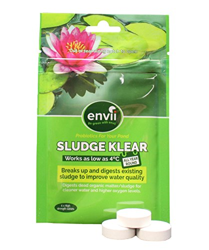 Envii Sludge Klear - Pond Sludge Remover, Bacteria Treatment and Biological Starter That Works Down to 40F - (Treats Up To 8,000 Gallons) (Koi Treatment)