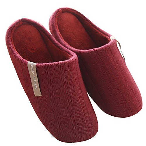 Mianshe Cotton Slipper For Women Sweater Knit Lightweight House Slippers Indoor Men's Washable Shoes