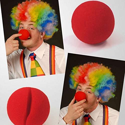Party DIY Decorations - Red Clown Nose 1 Pcs Party Sponge Ball Magic Masquerade - Nose Magic Reshaper Party Decorations Nose Clown Back Magic Support Bridal Dress Birthday Makeup Spong M ()