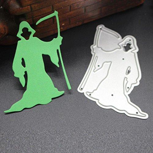 VESNIBA Metal Cutting Dies, Happy Halloween Metal Cutting Dies Stencils Scrapbooking Embossing DIY Crafts (E:52x60mm)