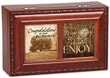 Cottage Garden Congrats Retirement Woodgrain Petite Music Box/Jewelry Box Plays Wonderful World