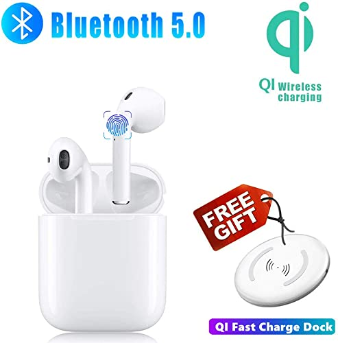 Bluetooth Headphones Wireless Earbuds Built-in mic in-Ear Earphones Touch Button HD Stereo Earbud with Wireless Charging Case Sports Waterproof for Android iPhone of airpods