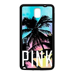Canting_Good Tropical Scenery Coconut Palm Trees Coconut Palm Trees Love Pink Custom Case for Samsung Galaxy Note 3 (Laser Technology)