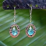 Women Earrings - Handmade Blue Apatite Gemstone Earrings with Sterling Silver | Throat Chakra Stone Jewelry | Cozumel