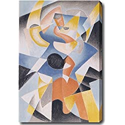 Idea Factory Gino Severini 'Dancer' Abstract Hand-painted Oil on Canvas