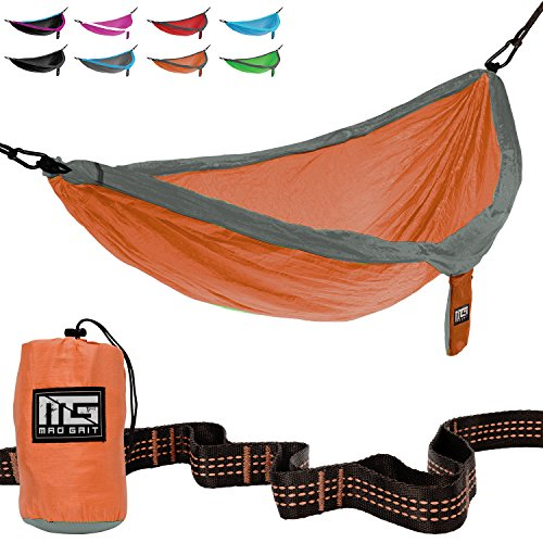 Great American Park Aerial (Best Deal! Double Parachute Camping Hammock With Straps & Carabiners by Mad Grit)
