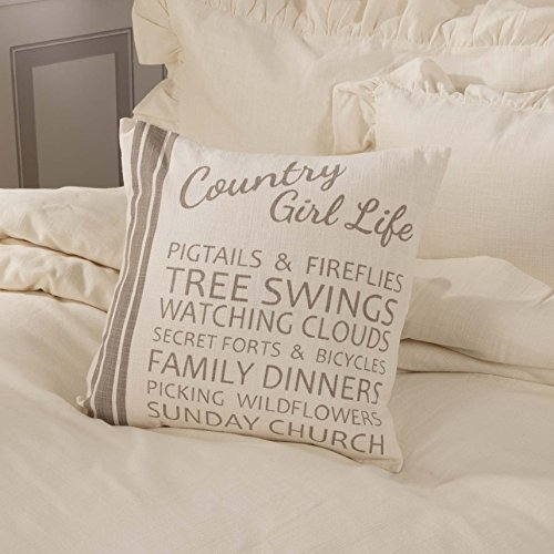Piper Classics Country Girl Life Pillow Cover, 18x18, Farmhouse Style Throw Accent Pillow Cover by Piper Classics (Image #2)