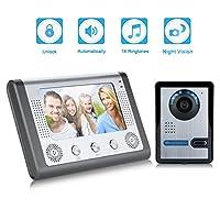 7 Zoll LCD Tür Video Monitor Sprechanlage Gegensprechanlage Türklingel IR...