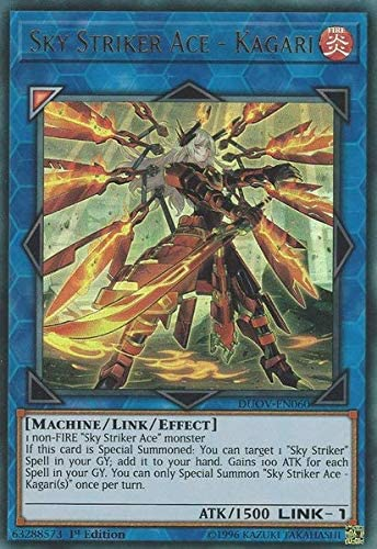 Amazon Com Sky Striker Ace Kagari Alternate Art Duov En060 Ultra Rare 1st Edition Toys Games