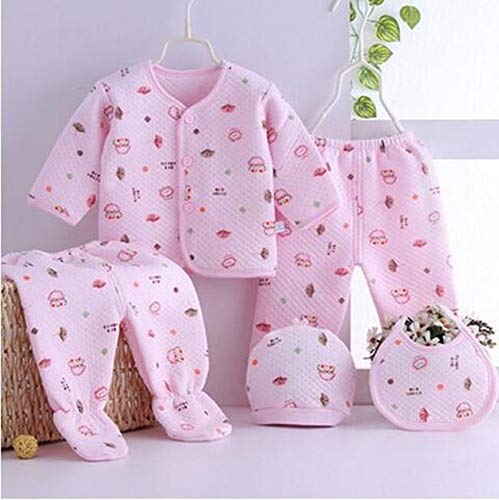 Gilli Shopee Newborn Baby Soft Feel Cotton Polyester Blend Top Pyjama with Cap and Bib Set for Born Babies for Winter 0-3 Month