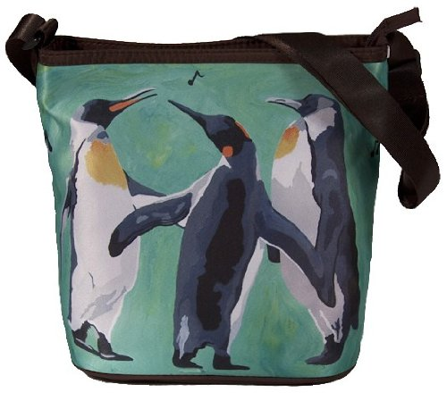 (Penguin Small Cross Body Handbag - From My Original Paintings, Support Wildlife Conservation, Read How (Penguins - The Trio))