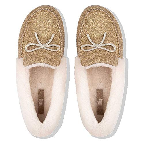 Slippers Moccasin Glimmerwool Fitflop™ Gold Clara™ qEOWTt7R