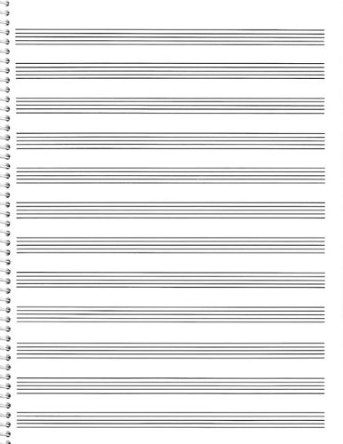 85. Spiral Book 12-Stave: Passantino Manuscript Paper (Passantino Music Papers)