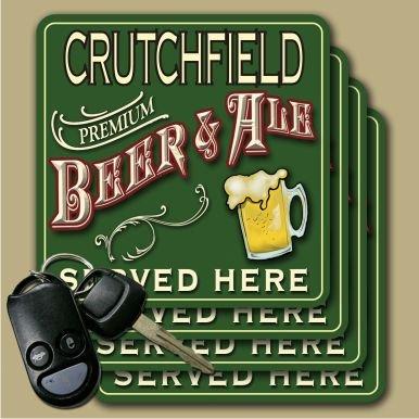 Crutchfield Premium Beer   Ale Coasters   Set Of 4