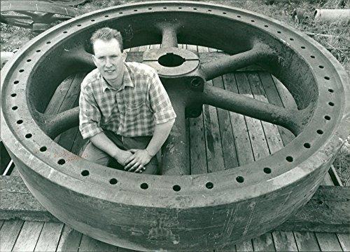Vintage photo of The Massive Marsh Pump Flywheel Machine