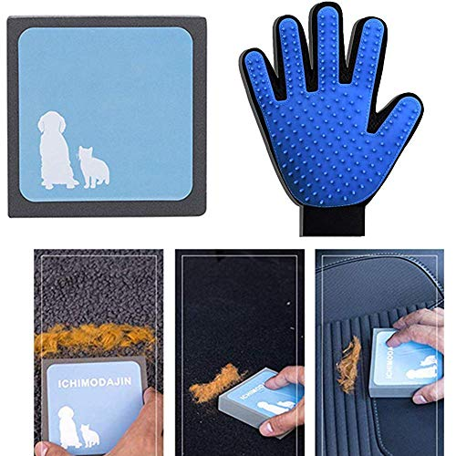 ODOOKON Pet Hair Cleaning Brush 2 Pcs, Pet Brush,Pet Hair Cleaner, Reusable Hair Remover for Pet Dogs Cats, Easy to Clean, Hair Cleaning Tool for Furniture Carpets Fabric Sofa