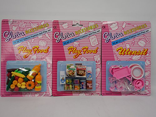 Barbie Size Gloria Play Utensil and Play (Barbie Food)