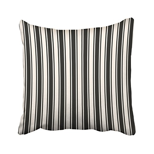 Emvency Decorative Throw Pillow Cover Square Size 16x16 Inches Vertical Stripes Pattern Simple Lines Abstract Geometric Pillowcase With Hidden Zipper Decor Cushion Gift For Holiday Sofa Bed (Christmas Outline Blank Tree)