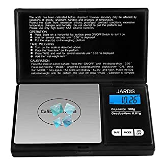 Digital Scale Pocket Weight Scale, G/OZ/CT/OZT Quick Conversion, LCD Back-Lit Display, High Precision Gram Scale for Kitchen Food, Medicine, Weed, Jewelry and Powder (100g/0.01g)