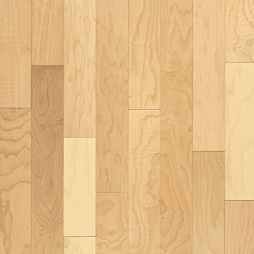 5 Maple Natural Hardwood Flooring - Armstrong MCM441NAYZ Metro Classics Engineered Maple Hardwood Flooring, 1/2