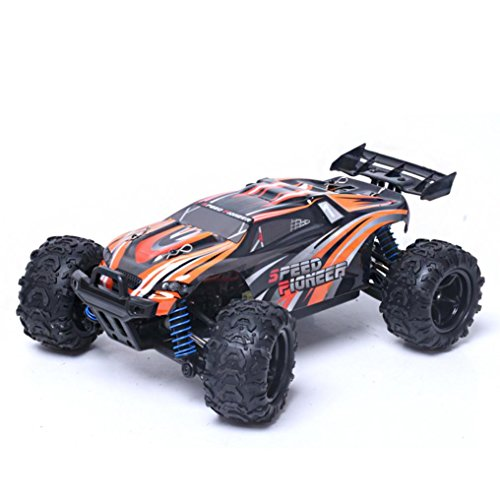 Kanzd 9302 1:18 2.4G Four-Wheel Drive High Speed Off Road Remote Control Car (Orange)
