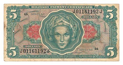 1965 $ U.S. Military Payment Certificates - Vietnam-Era $5 Circulated Uncertified