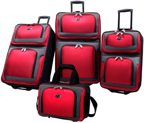us-traveler-new-yorker-lightweight-expandable-rolling-luggage-4-piece-suitcases-sets-red