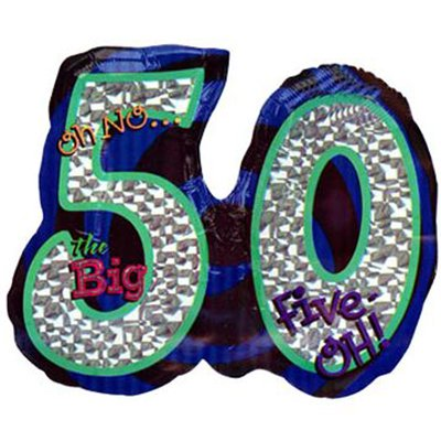 Mayflower BB19602 Oh No 50Th Birthday Shaped Balloon