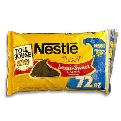 Nestlé® Chocolate Morsels - 72 Oz. Bag (Original Nestle Toll House Chocolate Chip Cookies)