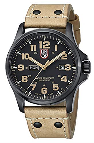 Luminox Atacama Field Day Black Carbon Fiber Dial Brown Leather Mens Watch 1925