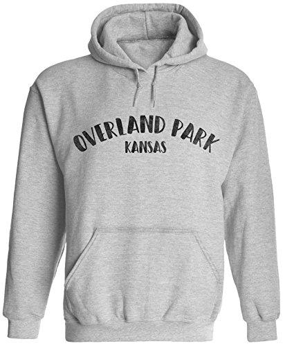 Unisex Mens City of Overland Park Kansas Pullover Hooded Sweatshirt (Ash Grey, 2XL)
