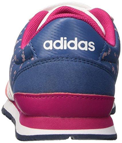 adidas V Jog K, Zapatillas de Deporte Unisex Bebé Rosa / Blanco / Azul (Rosvis / Ftwbla / Azucen)