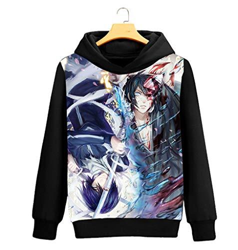 Cosplay Nero 1 Cosstars Sweatshirt Maglione Con Felpe Cappotto Noragami Sportivo Adulto Pullover Anime Cappuccio Hoodie xwwq04fr6O