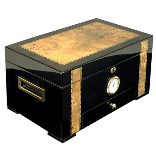 Cuban Crafters Exotica Ebony/Cigar Humidor 125 count by Cuban Crafters