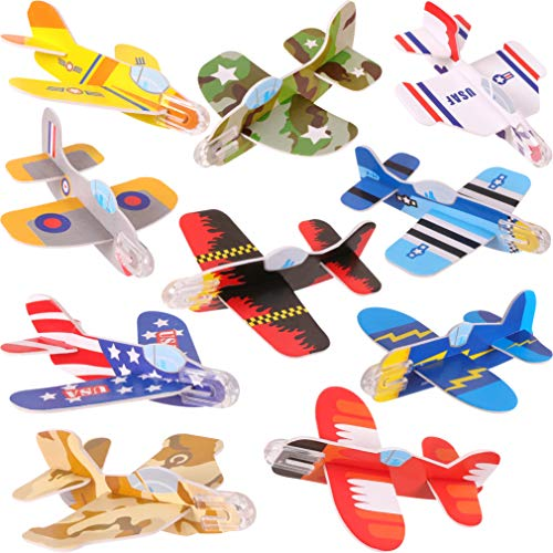 Narwhal Novelties Foam Glider Plane Assortment (72-Pack) Gliders For Kids