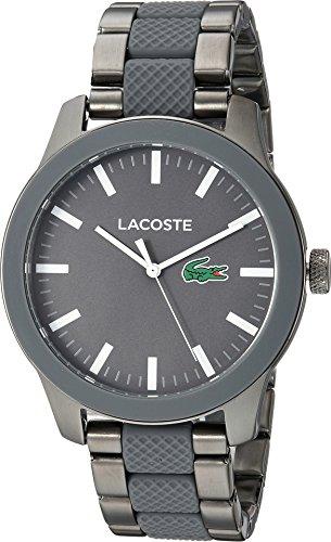 Lacoste Men's LACOSTE.12.12 Quartz Watch with Stainless-Steel Strap, Silver, 20 (Model: 2010923) (Watch Men Lacoste)
