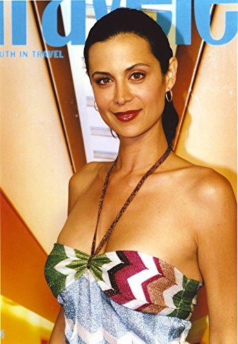Catherine Bell wearing a Printed Sexy Halter Dress Photo Print (8 x 10)