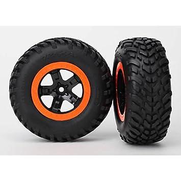 Amazon Com Traxxas Rear Tires Wheels Robbie Gordon Slash