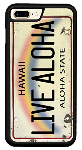 Live Aloha License Plate - Printed Hybrid Hard PC Soft TPU Silicone Smartphone Case Cover For iPhone 7 Plus