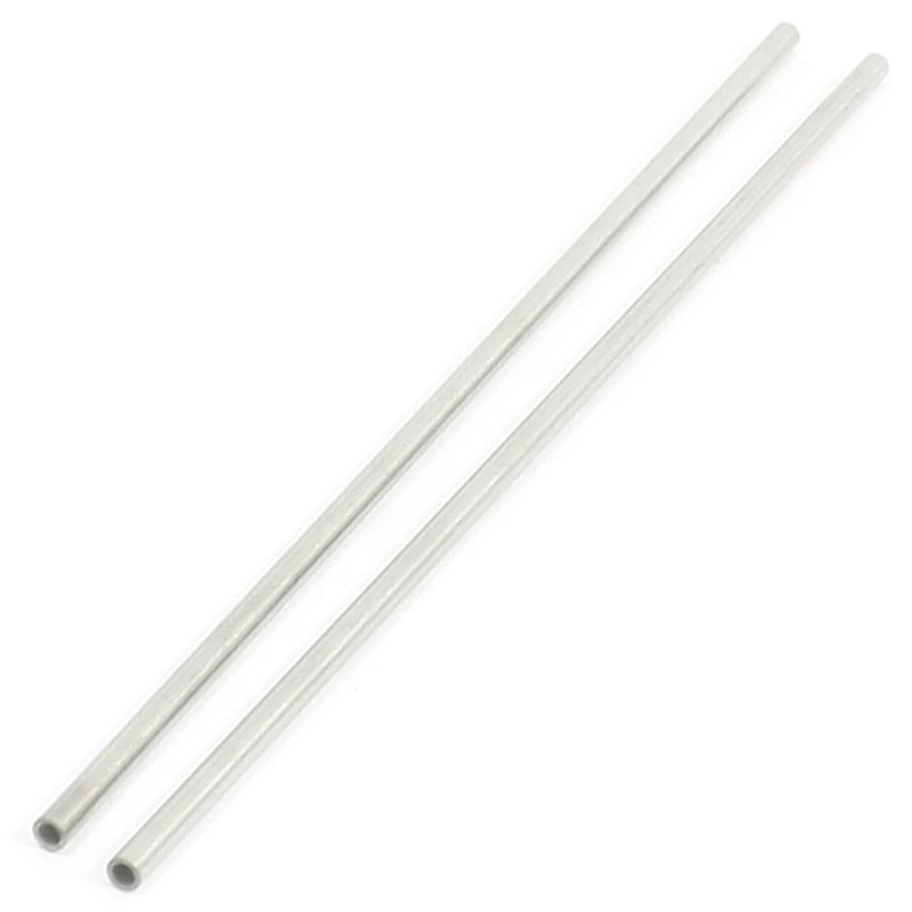 SODIAL 2 Pieces Processing Of Metal Stainless Steel Round Pipe 170X3Mm 0.5Mm Thick Wall