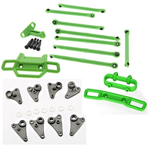 Traxxas 1/16 Grave Digger GREEN FRONT & REAR BUMPERS, LINKS, RODS & -