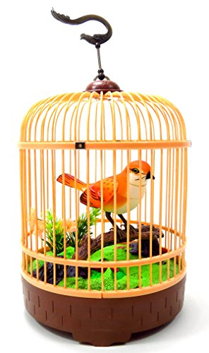 PowerTRC® Singing & Chirping Bird in Cage - Realistic Sounds & Movements -