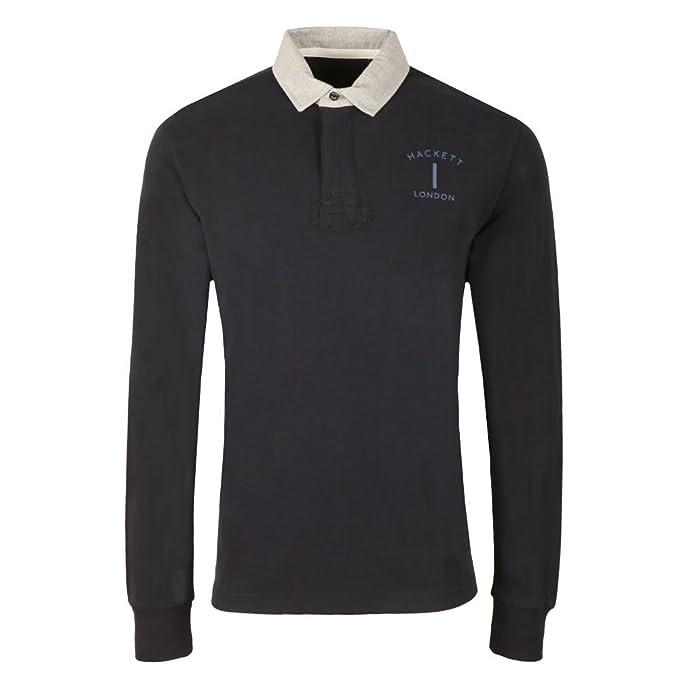Hackett London Mr Clasc Rugby, Polo para Hombre, Azul (595navy ...