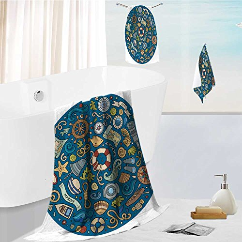 aolankaili Bath towel set Spa 3D Digital Printing colorful v