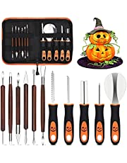 Halloween Pumpkin Carving Kit Tools for Kids 12PCS Professional Pumpkin Carving Knife Carver Set Heavy Duty Stainless Steel Pumpkin Carving Tools for Sculpting Jack-O-Lanterns with Carrying Case