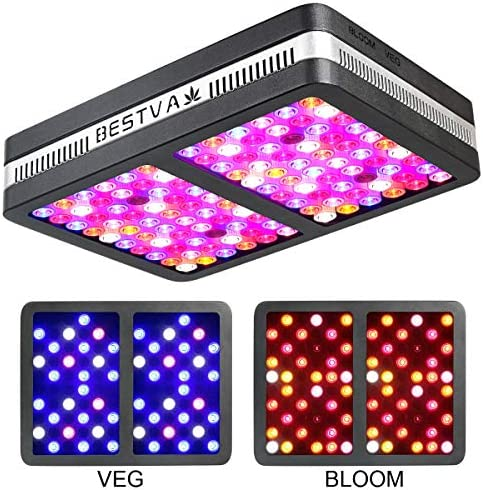 BESTVA Reflector Series 1200W COB LED Grow Light Full Spectrum Grow Lamp for Hydroponic Indoor Plants Veg and Flower 4 Dim Infrared Rays