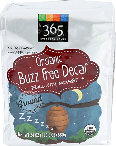 365 Everyday Value, Organic Buzz Free Decaf Full City Roast Ground Coffee, 24 oz