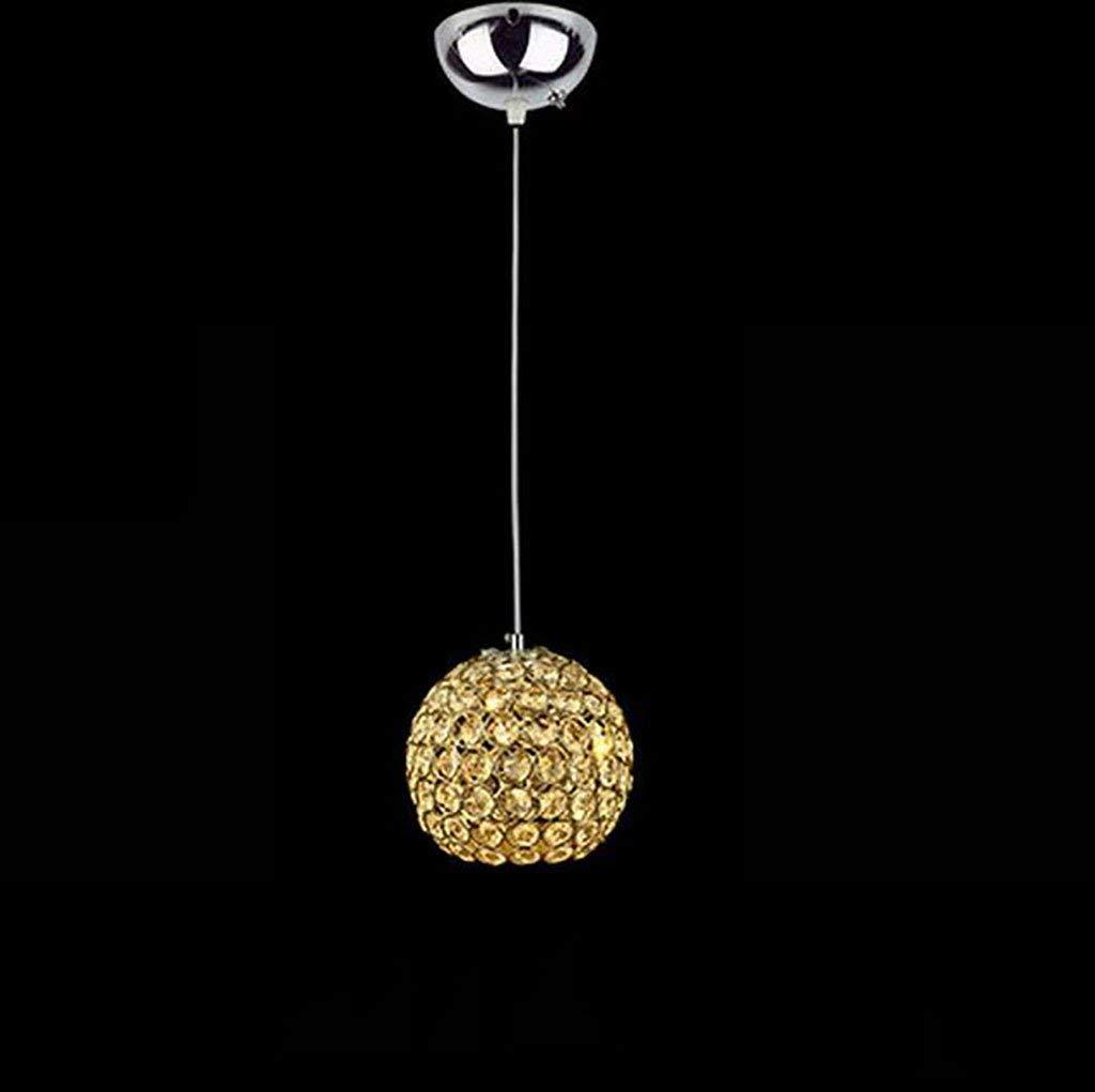 Eeayyygch Modernes minimalistisches Kreativrestaurant Bar - Cafe Crystal LED andelier, Gold 3 Heads Pendelleuchte Saving Andeliers (Größe  C) (Farbe   C, Größe   -)