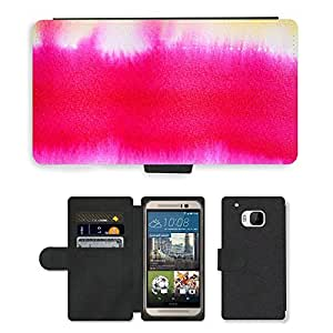 Hot Style Cell Phone Card Slot PU Leather Wallet Case // M00152399 Watercolor Tusche Indian Ink Wet // HTC One M9