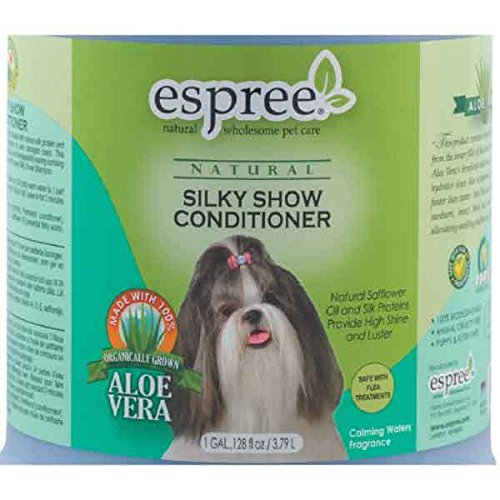 Silky Show Dog Conditioner Pet Grooming Bathing Natural Hydrating Shine Gallon